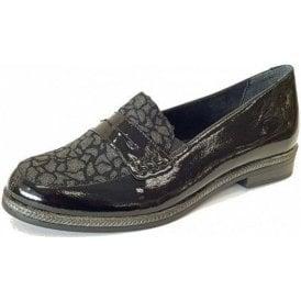 D2622-02 Black Leather Loafer Shoe