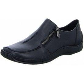 L1780-00 Black Leather Ladies Shoe