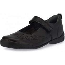 Pump Black Leather Girl's School Shoe