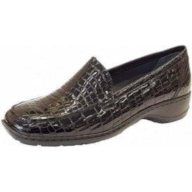 583A0-00 Black Patent Croc Shoe