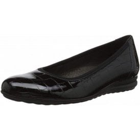 Splash 92.020.87 Black Croc Patent Pump