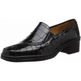 Frith 96.026.97 Black Croc Patent Shoe