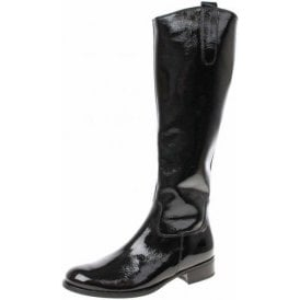 Brook S 91.648.97 Black Crinkle Patent Boot