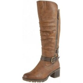 Relife Brocket Tan Multi Zip-Up Knee High Boots