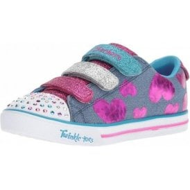 Twinkle Toes: Sparkle Lite - Flutter Fab  Denim / Multi Fabric