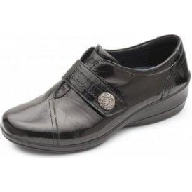 Simone 3 Black Patent Velcro Shoe