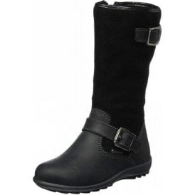 PCIGT 23795 Black Leather / Suede Goretex Waterproof Girl's Boots