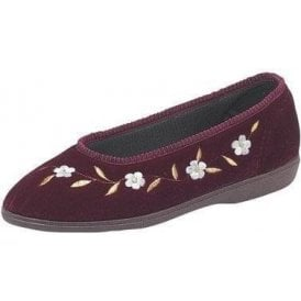 Monica Plum Floral Full Slipper