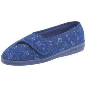 Diana Blue Velcro Full Slipper