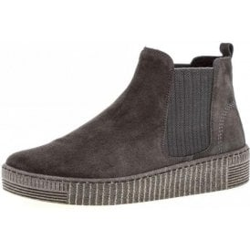 Lourdes 93.731.19 Anthrazit Pepper Grey Suede Ankle Boot