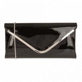 Sommerton Black Shiny Clutch Bag