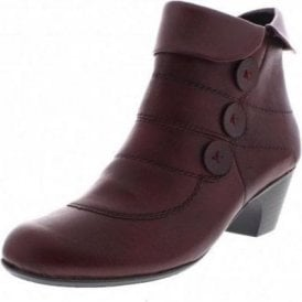 70562-25 Burgundy Leather Slouch Ankle Boot