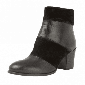 Mantura Leather / Suede Heeled Ladies Ankle Boots