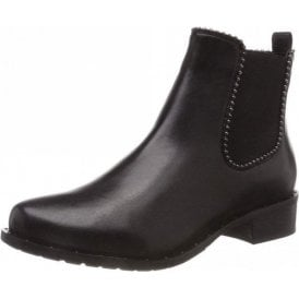 Calla 10 Black Leather Ankle Boot