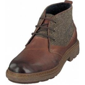 Stardust 321-61730 Brown Leather / Tweed Lace Up Boot