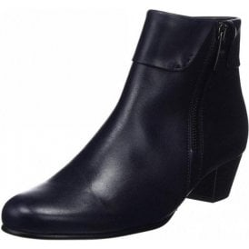Royston 96.073.66 Dark Navy Leather Ankle Boot