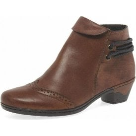 76981-24 Brown Leather Ankle Boot
