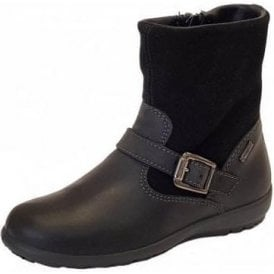 PCIGT 23796 Black Leather / Suede Goretex Waterproof Girl's Boots