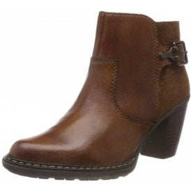 55292-24 Brown Leather Warm Lined Boot