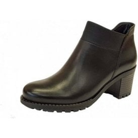 67361-71 Black Ladies Ankle Boot