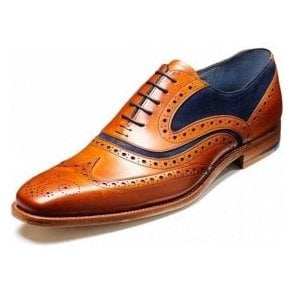 e9af433d8305b McClean Cedar Leather / Blue Suede Lace Up Brogue Shoe