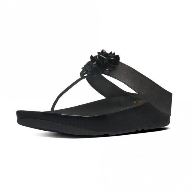 35d2118d422 Blossom Black Leather Sandal