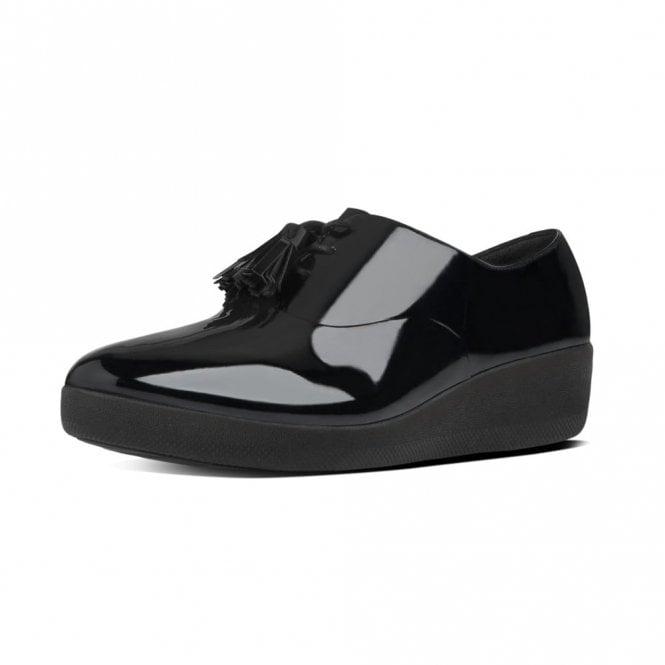 e8ce8bae146e Classic Tassel Superoxford Ladies Black Patent Shoe