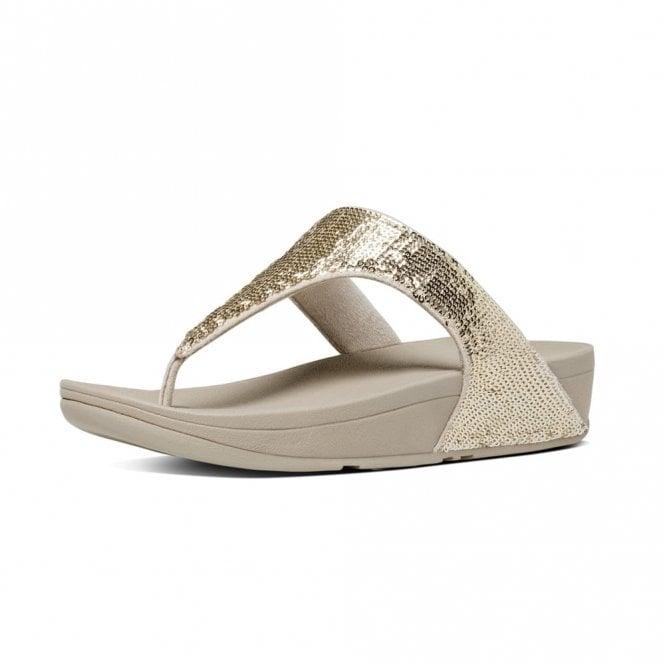 7a9b11f7d02f6 Electra Micro Toe-Post Pale Gold Sandal