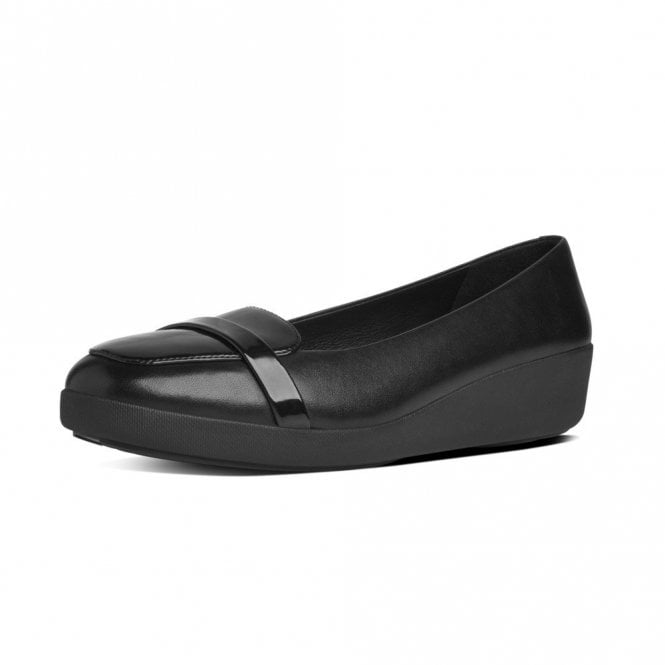 825eb1d1e F-Pop Loafer Black Leather Pump