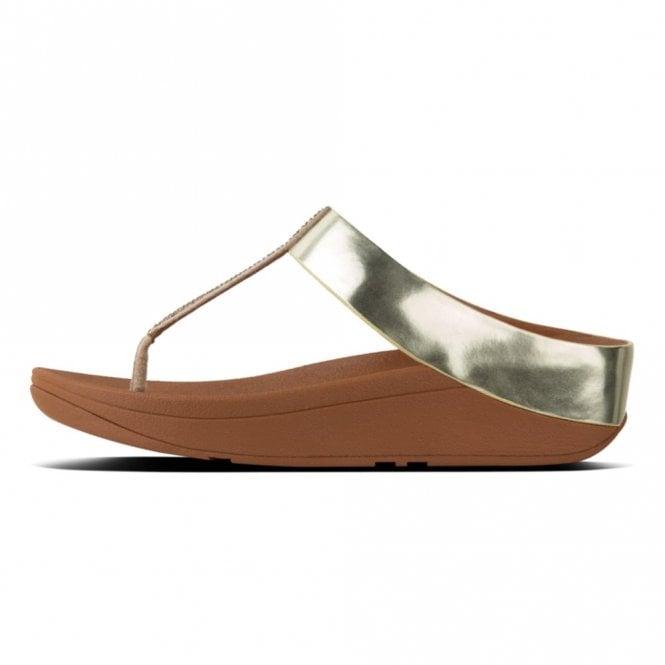 431822db8 Fino Crystal Toe Thong Gold Sandal