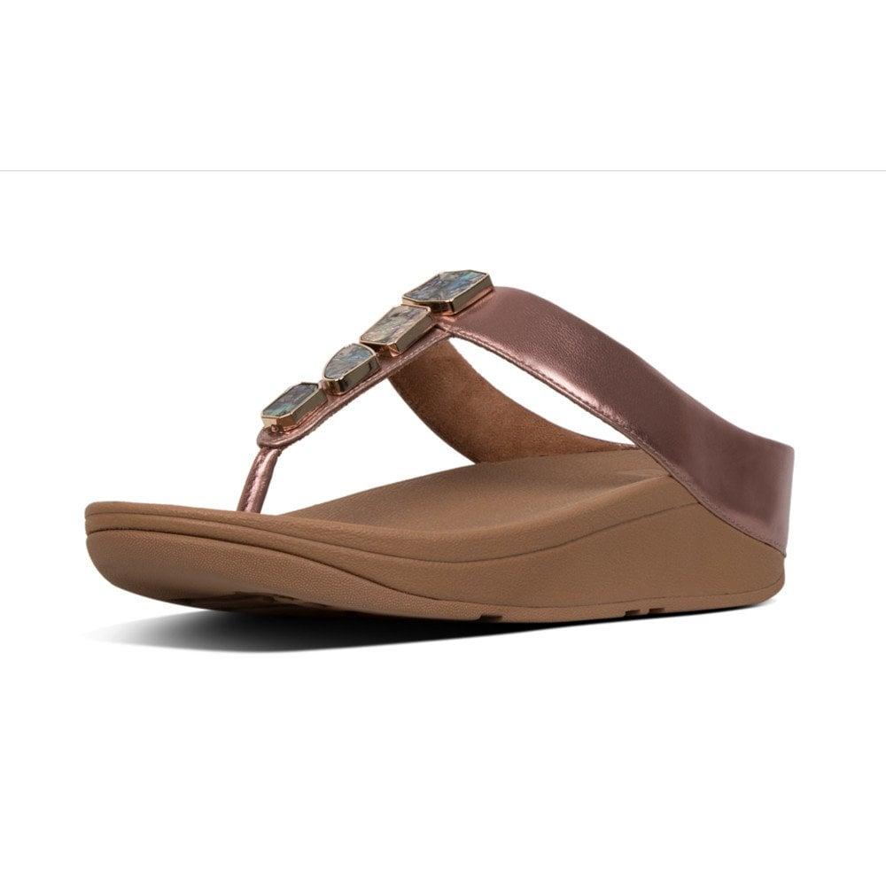 36aeaad79 Fino Shellstone Toe Thong Rose Gold Sandal