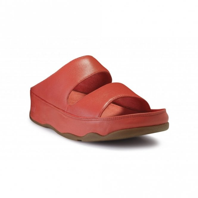 398ae9eb13275 FitFlop Gogh Slide Mineral Red Leather Sandal - Ladies from Crichton ...