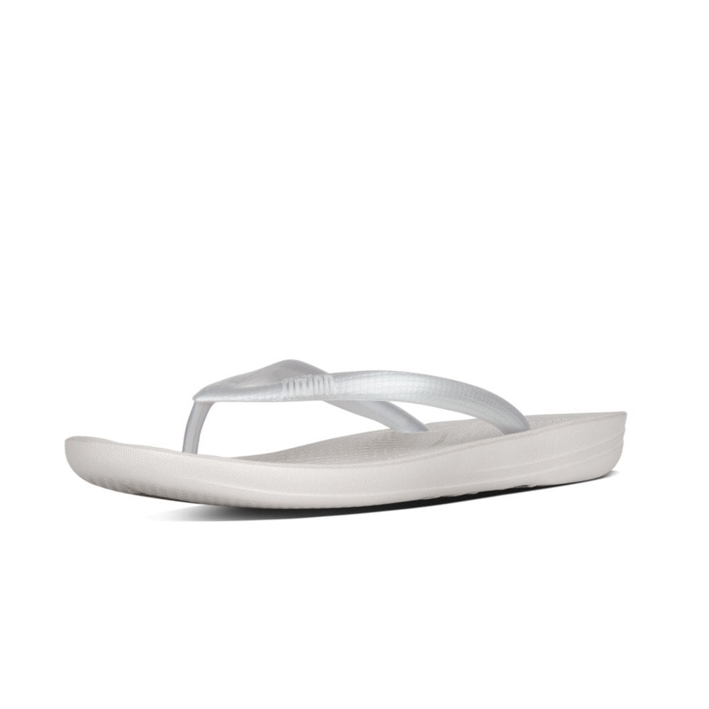 1ac14caf36d Iqushion Ergonomic Flip-Flops Silver Sandal