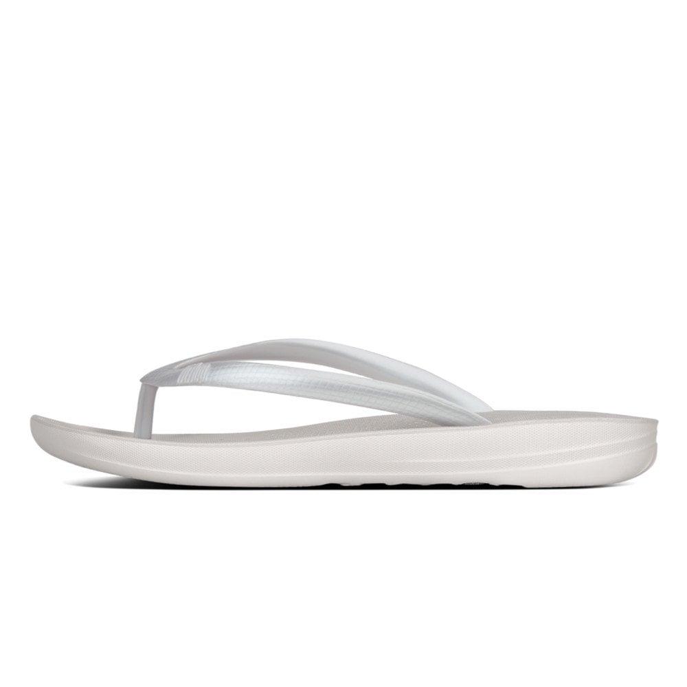 e6394a18fe103 Iqushion Ergonomic Flip-Flops Silver Sandal