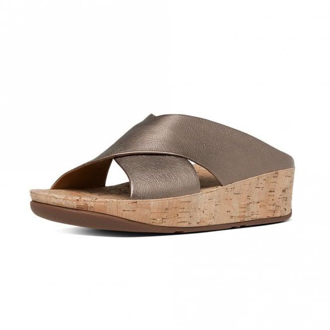a5a766330 KYS Slide Bronze Leather Sandal