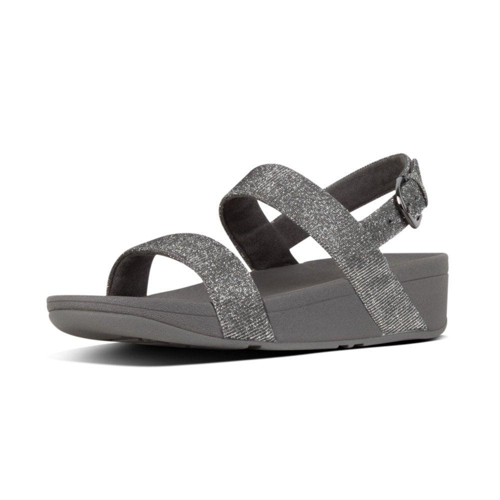 56b3a6c498b9 Lottie Glitzy Pewter Ladies Sandal
