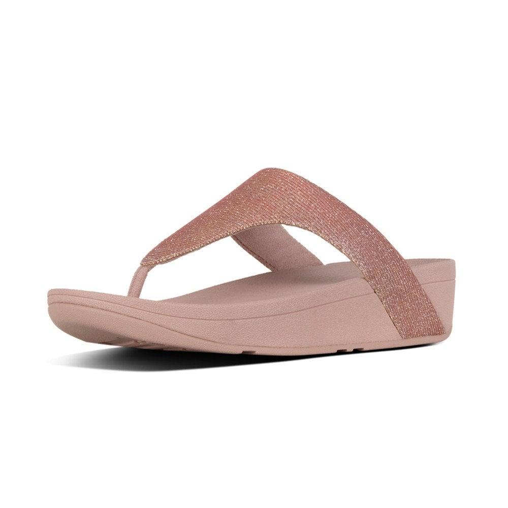 d115a3b5b479 Lottie Glitzy Toe Thong Rose Gold Sandal