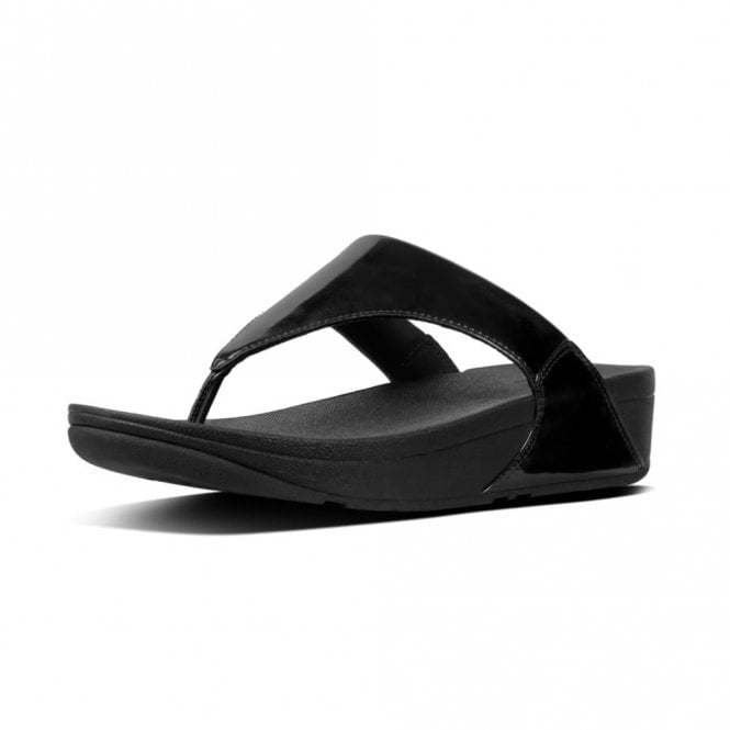 0ae2b7827 Lulu Toe-Thong Black Mirror Sandal