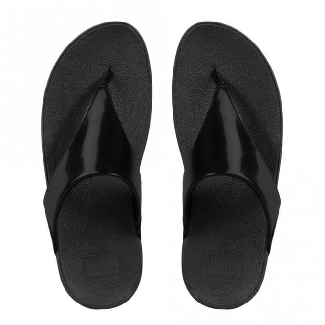 462ac805d7657 Lulu Toe-Thong Black Mirror Sandal