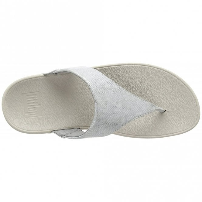 c8952ad92 Lulu Toe-Thong Silver Shimmer Print Sandal