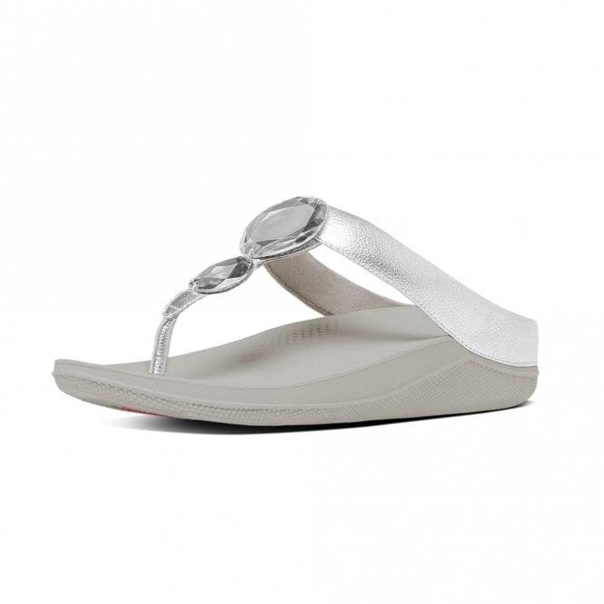 274ec6a4b Luna Pop Silver Leather Sandal