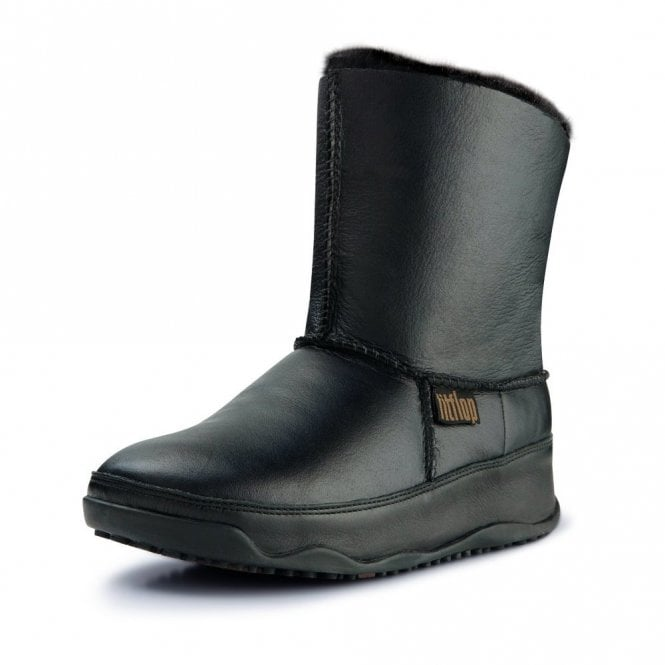 e11949ae4d1 FitFlop Mukluk Black or Brown Leather Boot - Ladies from Crichton ...
