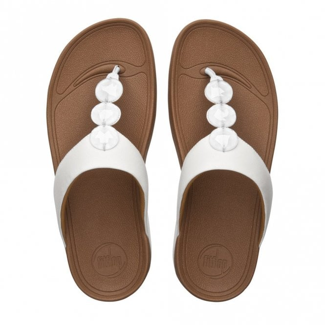 e9f93fbcb Petra Urban White Leather Sandal