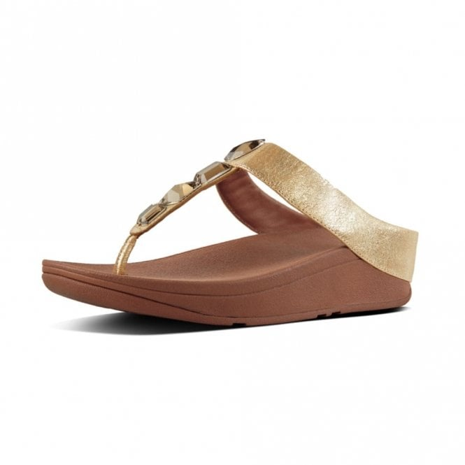Toe Leather Sandal Gold Thong Roka Fitflop wX8OnNk0P