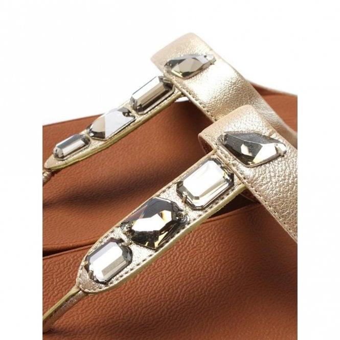 127a47e6f0ca3 Roka Toe-Thong Gold Leather Sandal