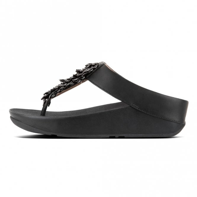 Black Toe Ladies Sandal Thong Rumba A4j5Lc3Rq
