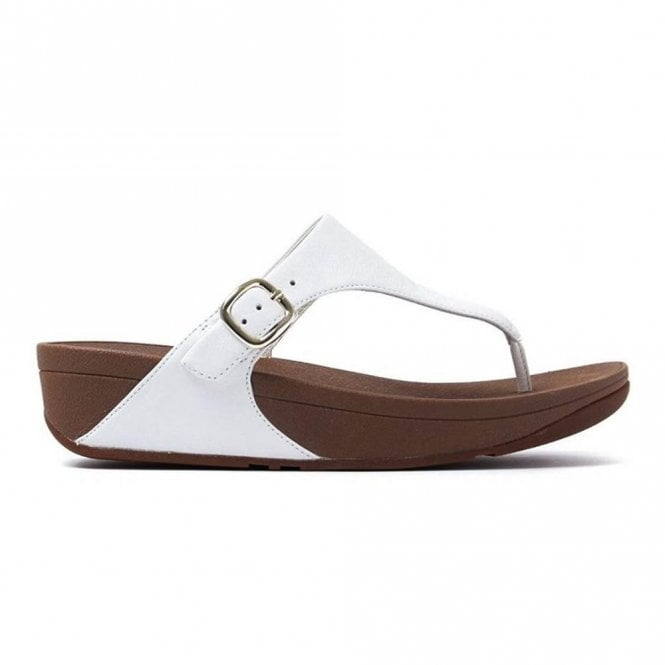 624dd453783f Skinny Toe Thong Urban White Leather Sandal
