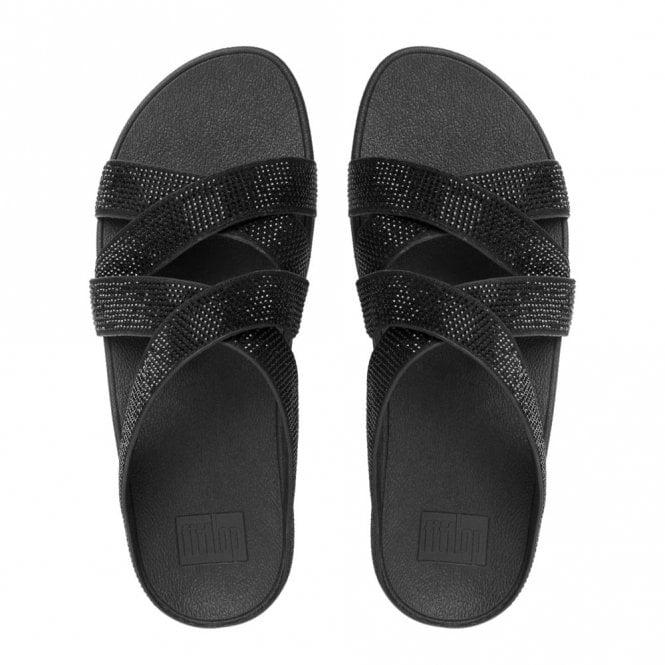 9a5a324b676d Slinky Rokkit Criss-Cross Slide Black Sandal