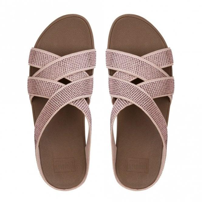 1659a0efd2e5 Slinky Rokkit Criss-Cross Slide Nude Sandal