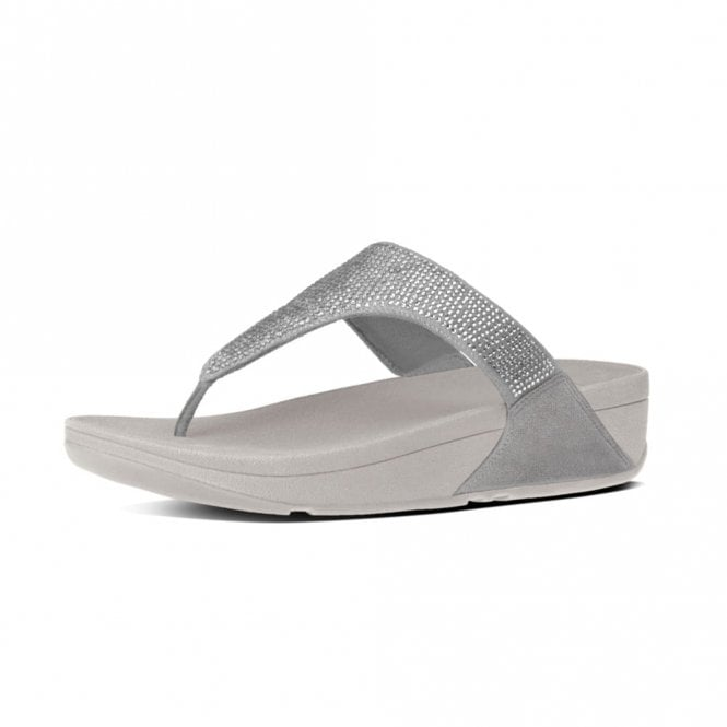 5bb5c6dc0ccd Slinky Rokkit Toe-Post Silver Sandal